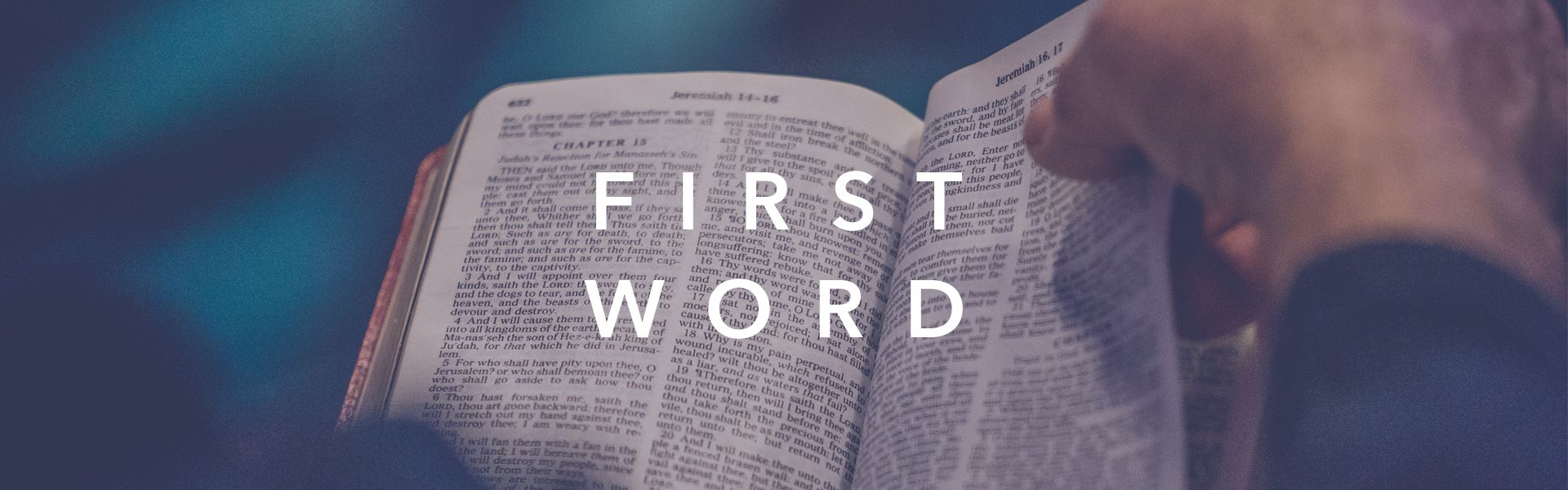 First Word – Web Banner